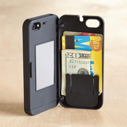 Protect and carry your iphone plus credit cards, cash, lip balm, keys, medications and more. http://zocko.it/LE59t