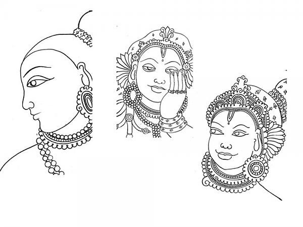 Indian Painting Styles...Kerala Mural Painting-2-face.jpg