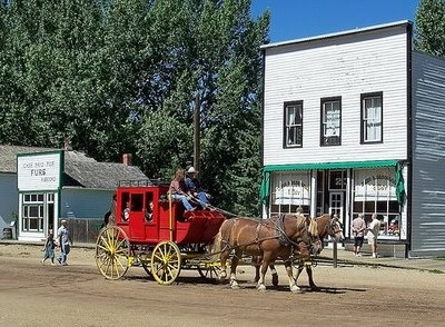 Fort Edmonton horse drawn carriage