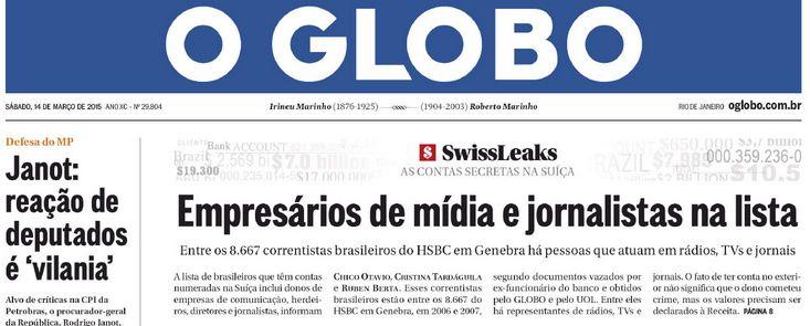 Donos da Folha, Band, afiliadas da Globo, Ratinho e jornalista da Veja são pegos no Suiçalão.   Os Amigos do Presidente Lula