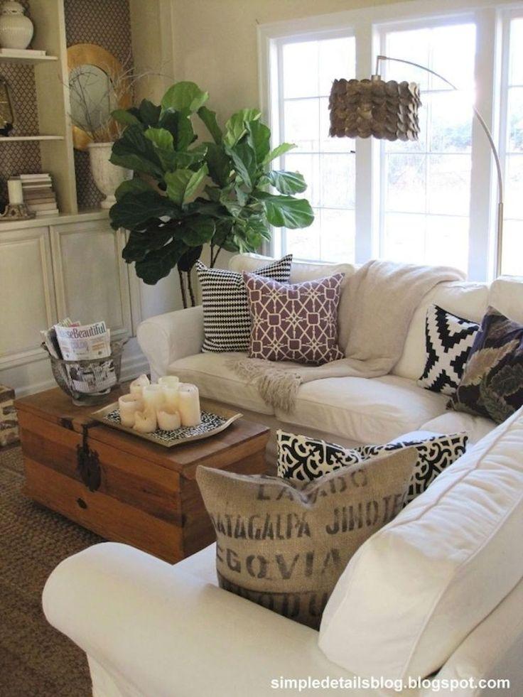 75 warm and cozy farmhouse style living room decor ideas (54)