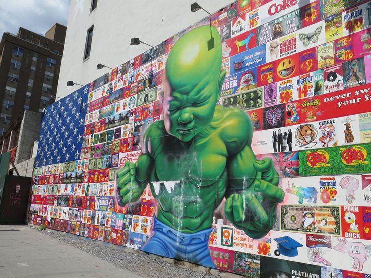 Amazing #streetart in #NYC!  #graffiti #ronenglish #babyhulk