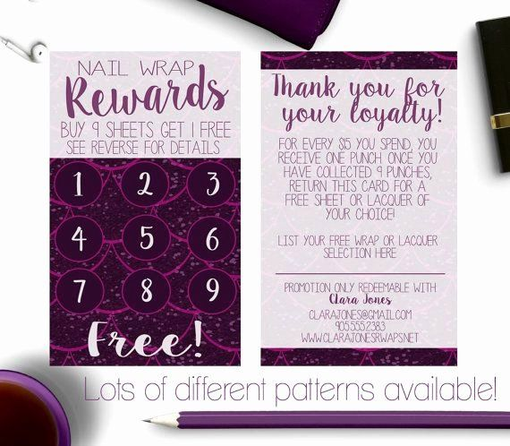 Scentsy Loyalty Cards Luxury Younique Business Cards Rewards Card Loyalty Card Jamberry Younique Business Cards Loyalty Card Reward Card