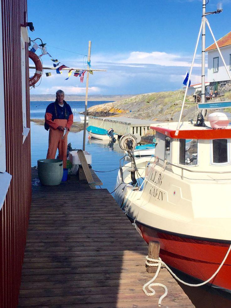 Makrillfiske på Käringön. Fiskare Göran Grunden.