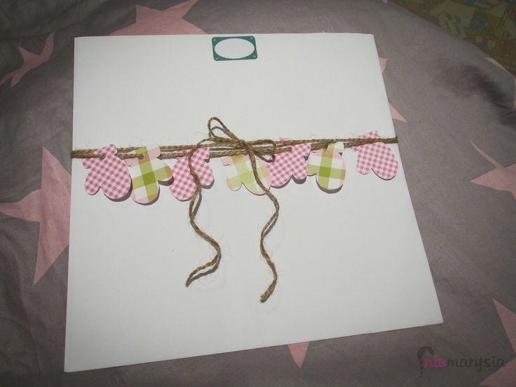 pomysł na zapakowanie płaskiego prezentu :)