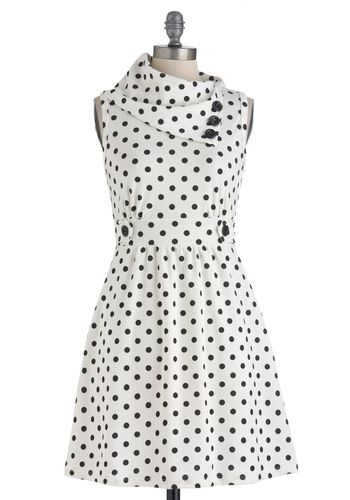 Coach Tour Dress in Dots $47.99