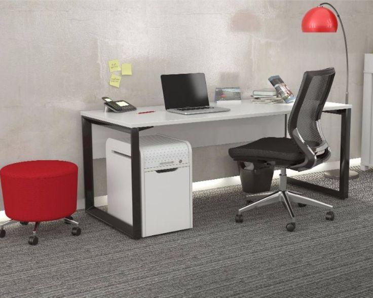 Delightful OLG Anvil Straightline Desk Black Frame U2013 Dunn Furniture