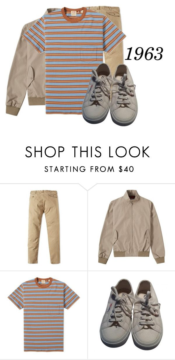 """Untitled #1478"" by grandmasfood ❤ liked on Polyvore featuring RRL, Fred Perry, Levi's, Superga, men's fashion and menswear"
