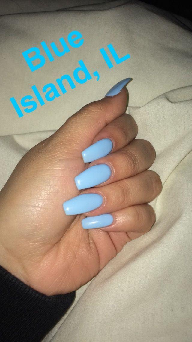 "DND no chip nail polish in the shade ""Blue Island, IL"""