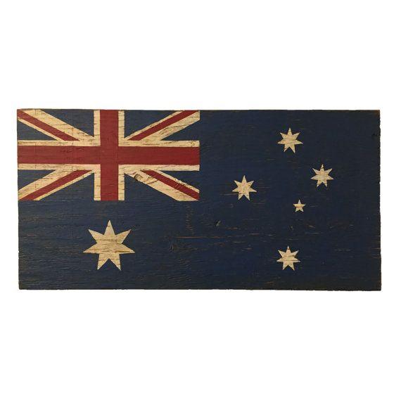 Australian Wood Flag Sign Australia sign flag sign by Halyard