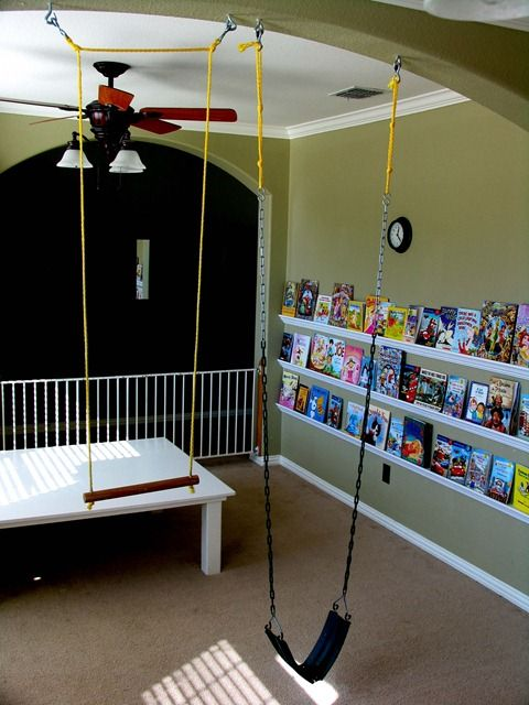 How to: Hang a swing or trapeze in your home. Best money you'll ever spend!