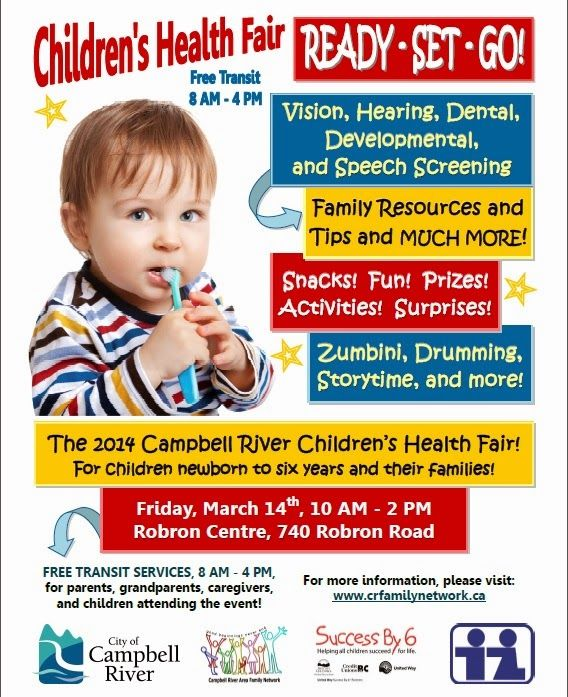 Campbell River Children's Health Fair, Friday March 14, 10 - 2