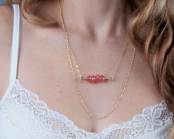 Delicate Chain Necklace Gold Layered Necklace Thin by Tooliks