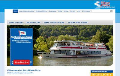 MEDIA Net-Kassel Blog: Neuer Webauftritt Schifffahrtslinie!
