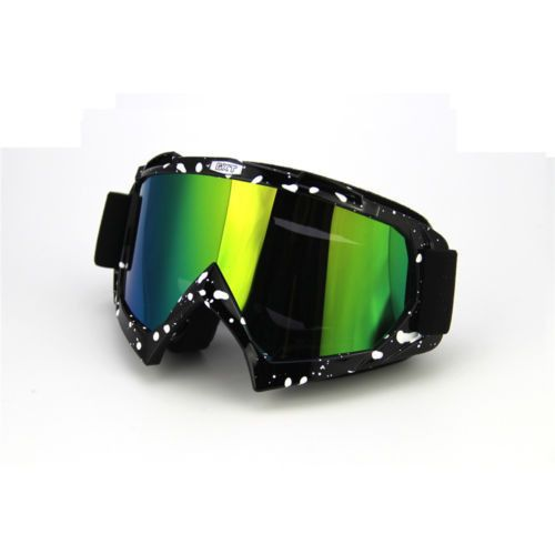 Black PU Windproof Dustproof Distortion Ski Goggles Protective Safety Glasses