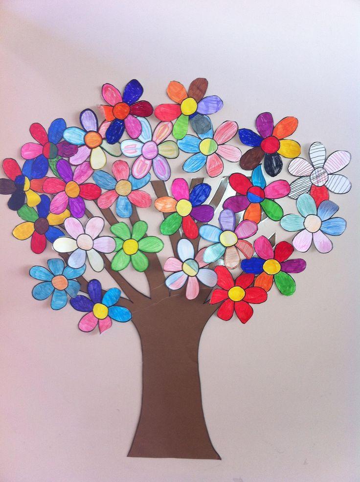 como decorar un salon de verano | ... un precioso árbol de primavera para decorar cualquier pared de tu