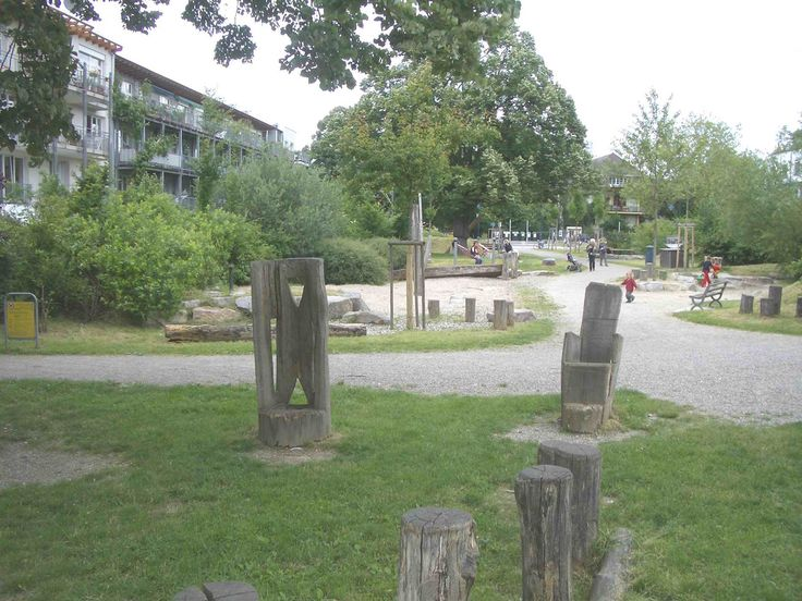 Fresh Playground in Vauban Freiburg New natural play space that exemplifies the Freiburg approach Playground