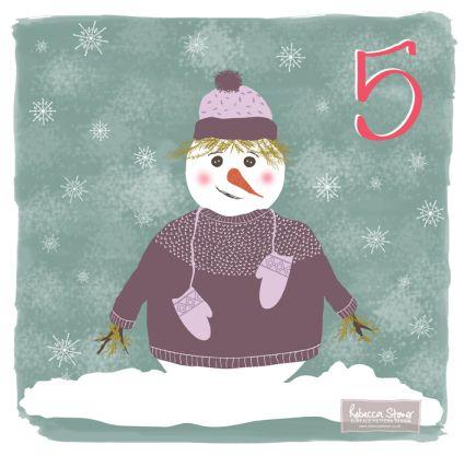 Christmas Advent Challenge - Day 5 - Snow Creature by Rebecca Stoner www.rebeccastoner.co.uk