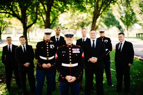 Outdoor Marine Corps Wedding by Claire Marie Photo » Vows & Valor | The Military Wedding Blog