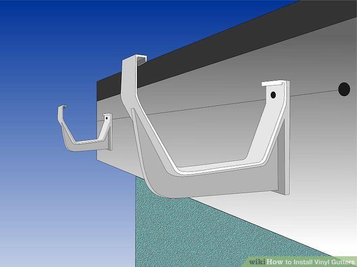 Image Titled Install Vinyl Gutters Step 5 Vinyl Gutter Building A Deck How To Install Gutters