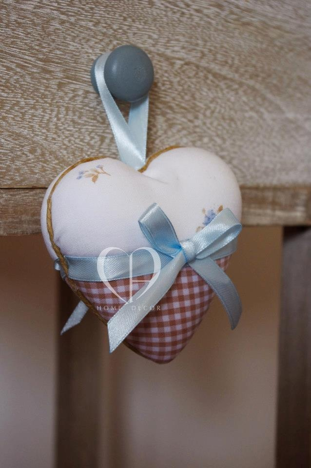 heart covered in cotton fabric