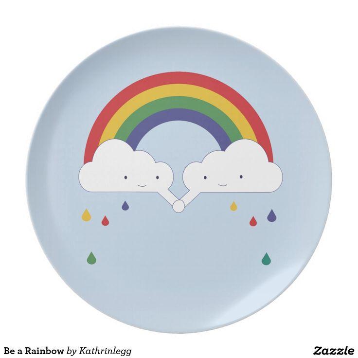 Be a Rainbow Plate