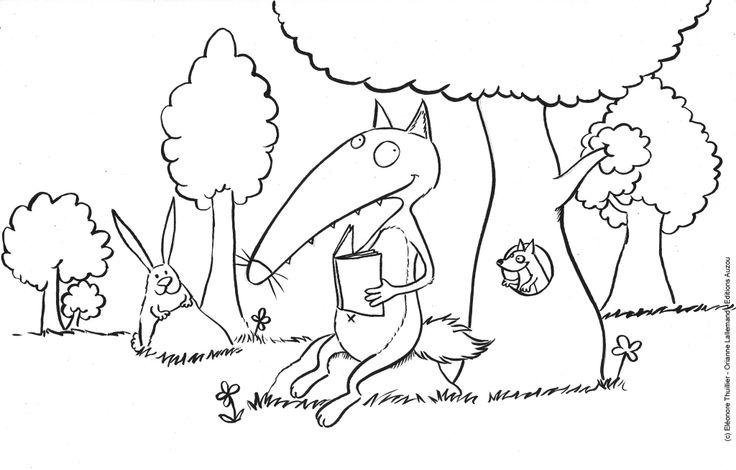 58 best images about homeschool livre le loup qui - Petit loup dessin ...
