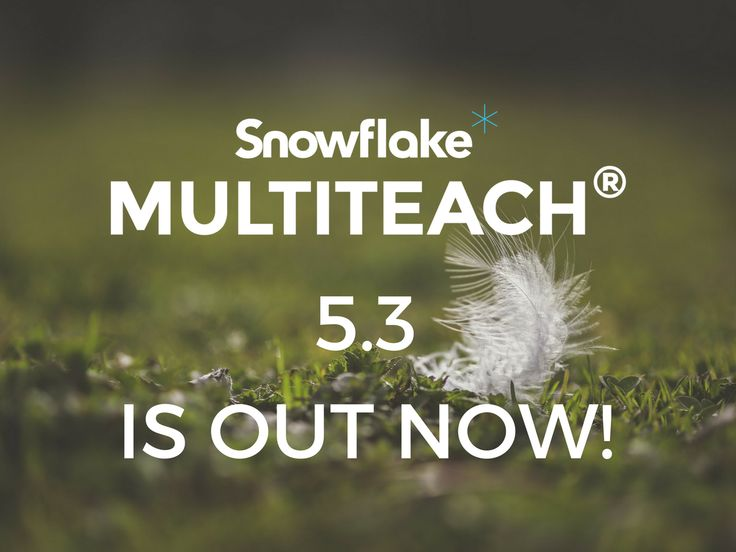 Today we are happy to announce the release of the educational software for touchscreens Snowflake MultiTeach® 5.3.