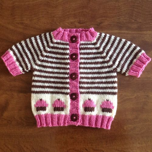 We Like Knitting: Cupcake Cardigan Deux - Free Pattern