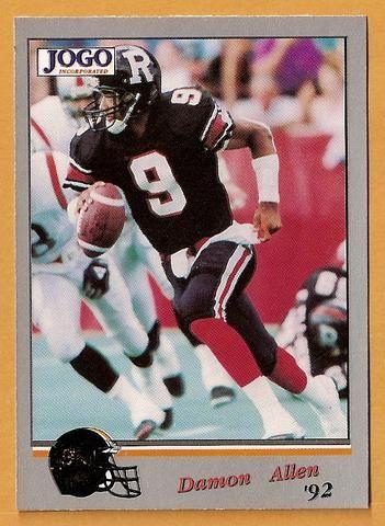 Damon Allen CFL card 1992 Jogo #61 Hamilton Tiger-Cats Cal State Fullerton Titans Hall of Fame