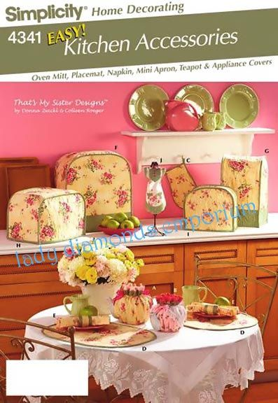 Simplicity 4341 Easy Kitchen Accessories Oven By. Find This Pin And More On Home  Decor Sewing ...