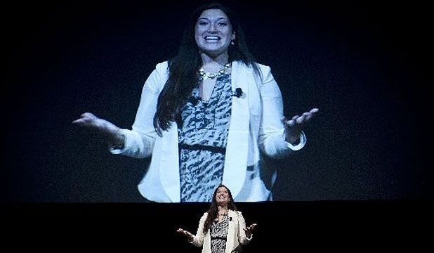 """""""The Social Media Breakfast"""": It was great listening to Randi Zuckerberg at Auckland's Viaduct Events Centre. 4/7/2012."""
