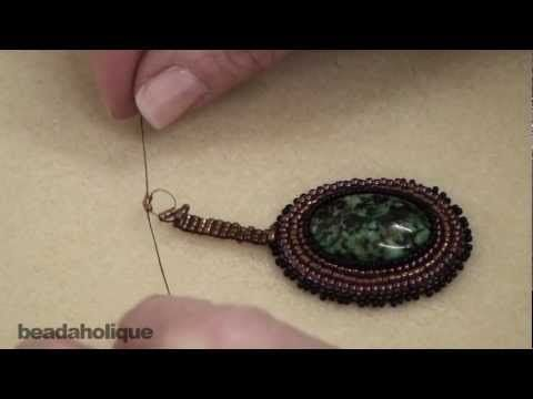 Video:How to Bead Weave a Ladder Stitch Bail  ~ Seed Bead Tutorials