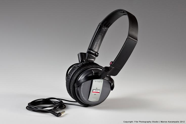 studio shoot sony head phones