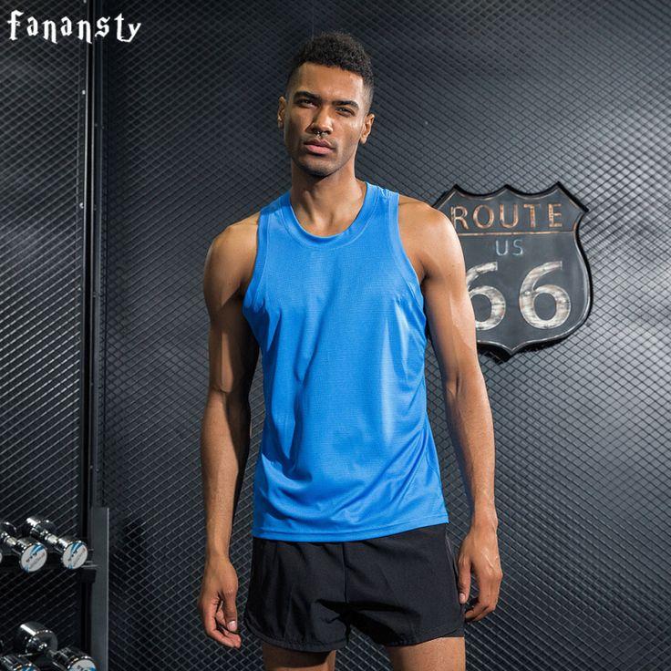 Men Quick Dry Vests Men Running Shirts Men Gym Tank Top Fitness Sleeveless T-shirts Gym Vest Workout Running Sport Running Vest #Affiliate