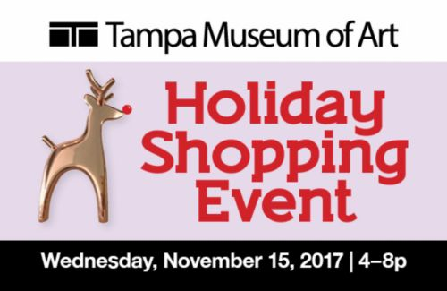 Tampa Museum of Art's Holiday Shopping Event.  November 9-12 at the Florida State Fairgrounds Expo Hall.  https://www.tampabaymetro.com/event/tma-holiday-shopping-event/?instance_id=2188