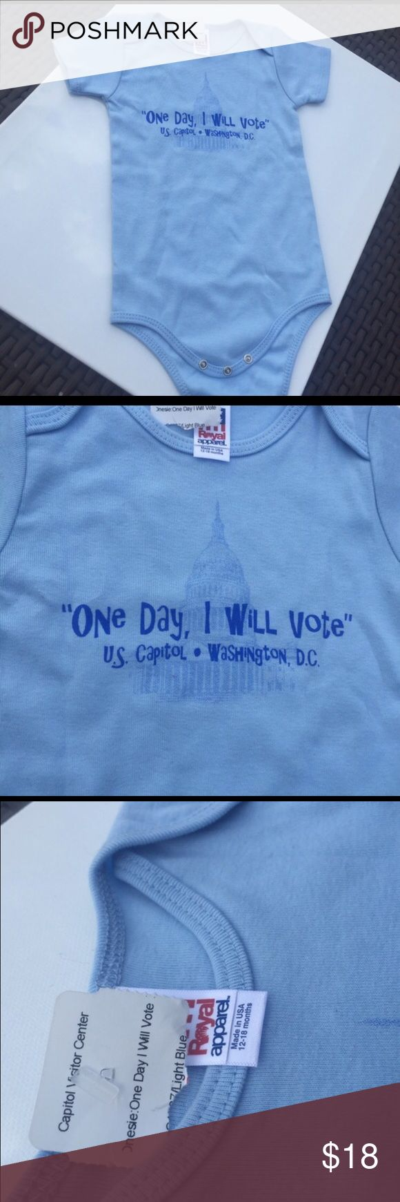"New! Baby Voter Onesie ""One day, I will vote!""  It's from the Capitol Center in D.C. Election ready!!! One Pieces Bodysuits"