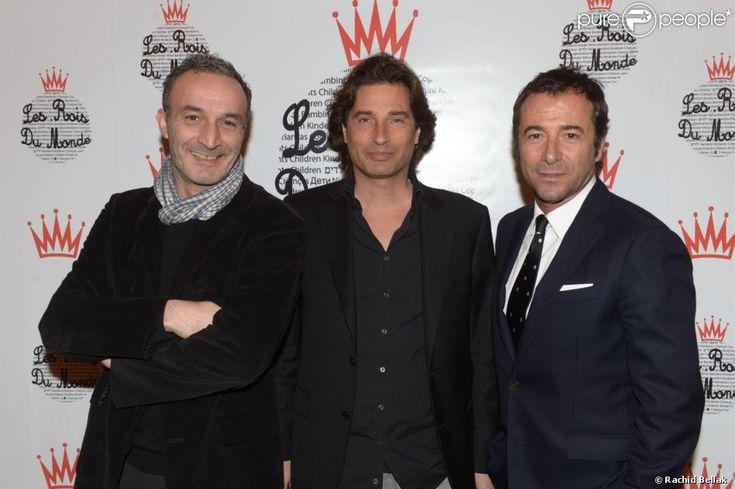 Pascal Selem, Richard Orlinski et Bernard Montiel lors du gala de l'association Les Rois du Monde aux Salons Hoche à Paris le 3 février 2014...