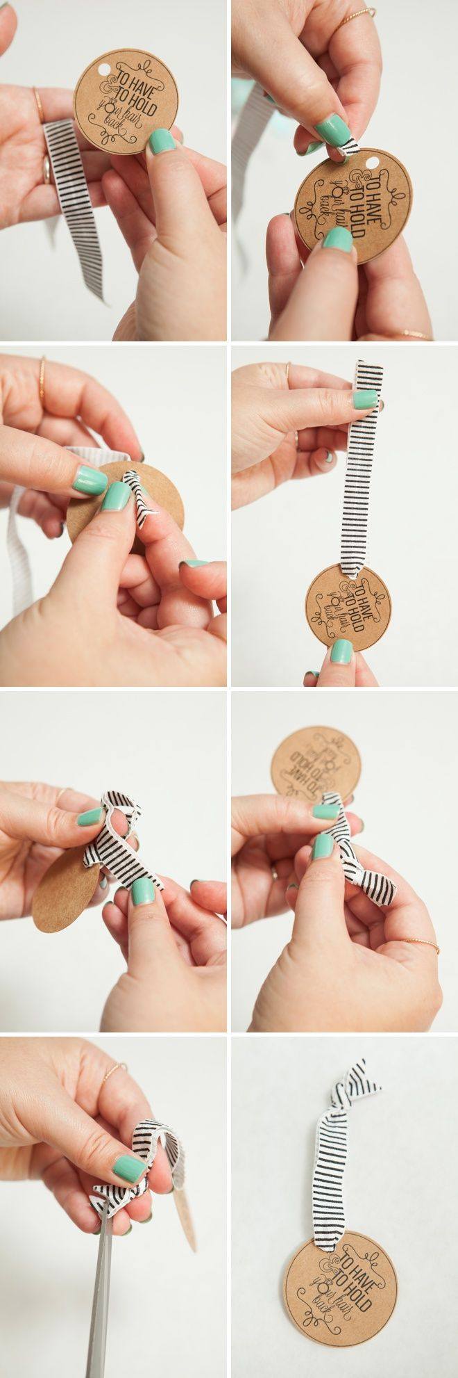 "DIY - Bachelorette Party Hair Tie Favors! ""To Have And To Hold Your Hair Back"" --- LOL!!!"