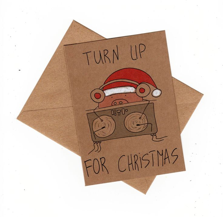 Christmas card funny/ hip hop christmas card/ dj christmas card/ funny christmas card pig/ funny merry christmas card/ cute christmas card by MashUpArt on Etsy https://www.etsy.com/listing/259645667/christmas-card-funny-hip-hop-christmas