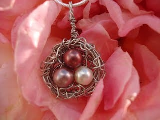 Good birthday gift! $25, personalized mother's nest pendant from A Nest by Design!  Even Helps support adoption!