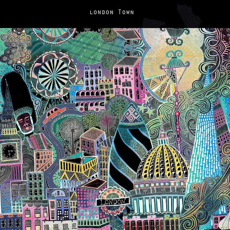 London travel scene.  A new project all about cities will be reviled in one big exciting new collection. Inks , Watercolours, paper pattern, paper texturs