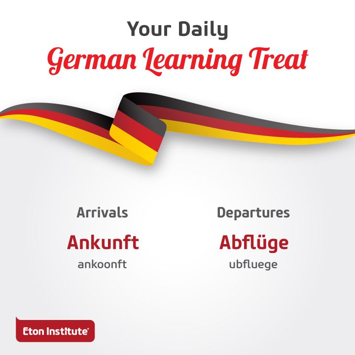 Know your way around the airport with these German words.