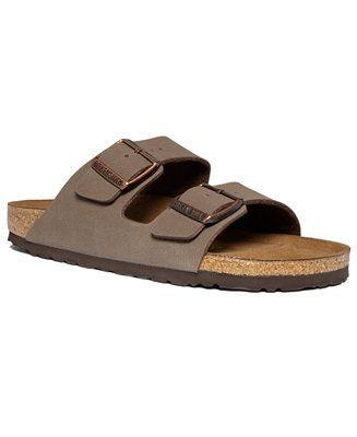 Birkenstock Arizona 2 Band Birkibuc Sandals - Shoes - Men - Macy's size 7 mens 9 womens
