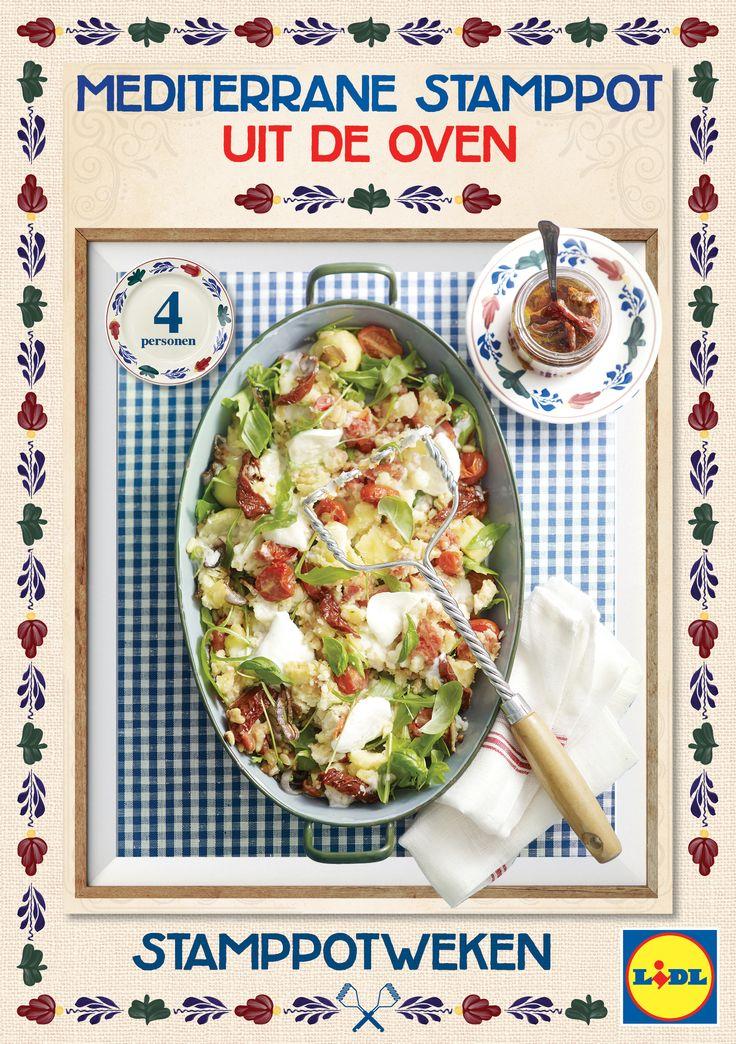 Deze Mediterrane #stamppot wordt extra smakelijk door de zoete ingrediënten en het roosteren in de oven. #Lidl