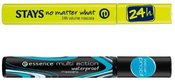 Essence Stays No Matter What 24H Volume Mascara Prijs: €2,99 Essence Multi Action Waterproof Mascara Prijs: €2,89