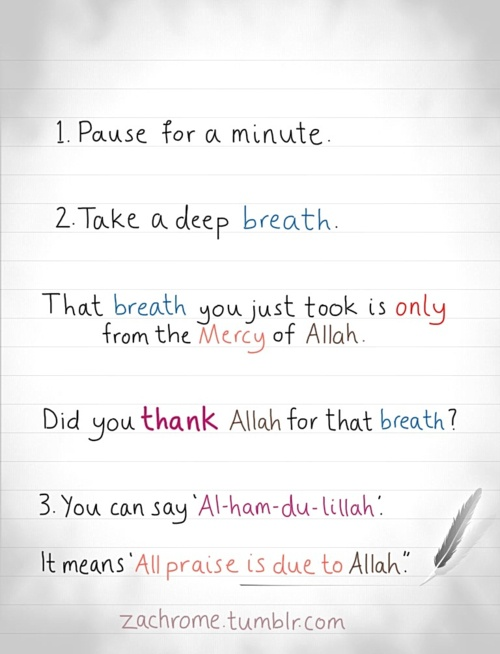 Thank Allah for Everything...  https://play.google.com/store/apps/details?id=com.quranreading.muslimduaseries