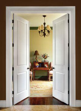 Double two panel doors
