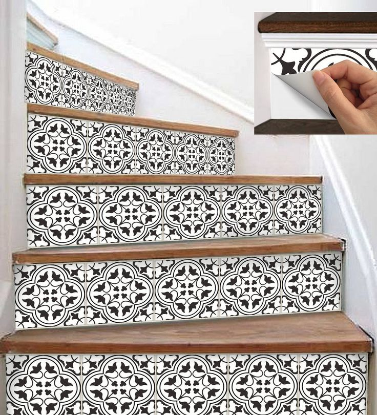 58 Cool Ideas For Decorating Stair Risers: 15steps Stair Riser Vinyl Strips Removable Sticker Peel