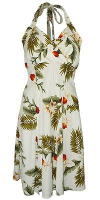 Napali Moon Hawaiian Dress, Halter Hawaiian dress, Hawaiian dress, sundress, halter top Hawaiian dress